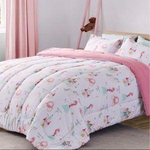 Comforter and Sheet Sets 7 Pcs Princess Castle